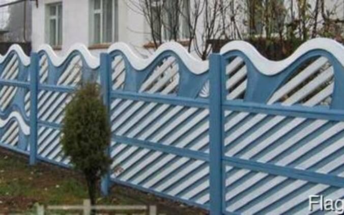 Забор, ограждение бетонное легкомонтируемое