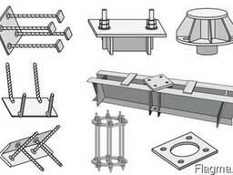 Закладные детали,пластины с отверстиями раскрой металла