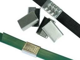 Замки (скрепы, скобы) металлические для упаковочных лент
